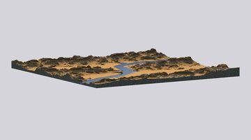 3k x 3k Mesa map w/ Download Minecraft Map & Project