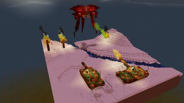 Heavens Fall, Deucalion vs Tanks diorama Minecraft Map & Project