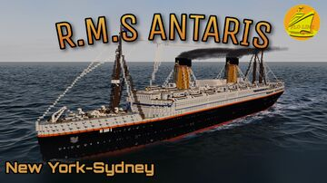 RMS ANTARIS 1913 [FULL INTERIOR] Minecraft Map & Project