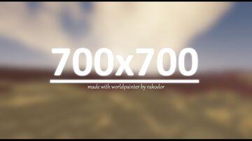 700 x 700 PLATEAU DESERT | 10 MINUTE MAKE CHALLENGE | WORLDPAINTER | DOWNLOAD Minecraft Map & Project