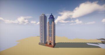 Hotel Marriott & Emirates Crown (Dubai) Minecraft Map & Project