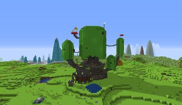 Adventure Time treehouse Minecraft Map & Project