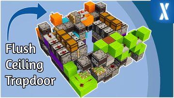 3x3 Ceiling Flush Trapdoor - Slimeless | Minecraft Redstone Trapdoor Minecraft Map & Project
