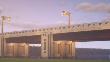 I made a simplistic road bridge Minecraft Map & Project