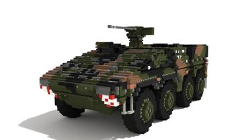 ARTEC Boxer 8x8 | FLW-200 Upfit | 10:1 Scale Armored Fighting Vehicle Minecraft Map & Project