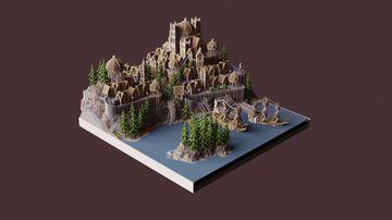 Asteilia Kingdom RPG Spawn | Aderlyon Build Team Minecraft Map & Project