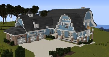Dutch Colonial home #1 [With full interior and download] Minecraft Map & Project