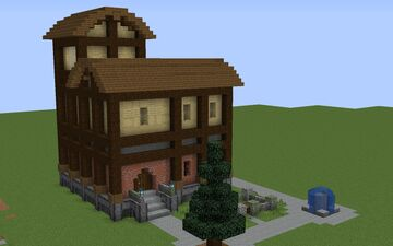 Bavarian Village Style House Minecraft Map & Project