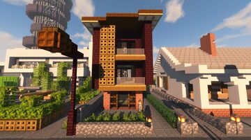 Small Townhouse Minecraft Map & Project