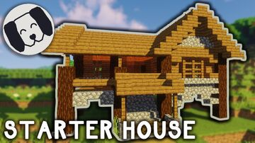 Simple Survival House!! With tutorial Minecraft Map & Project