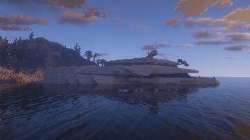 Modern Yacht #7 - Lychen - ShipSide Minecraft Map & Project