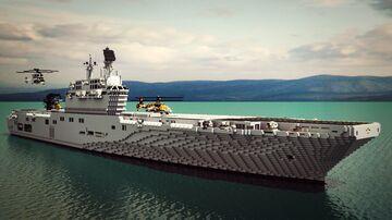 Russian Navy Amphibious assault ship - Vladivostok class Minecraft Map & Project