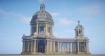 Little Roman baroque church Minecraft Map & Project