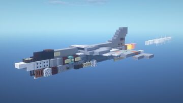 F-8 Crusader - 1.5:1 Minecraft Map & Project