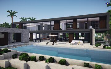 Modern Mansion 2|| BPN SERVER Minecraft Map & Project