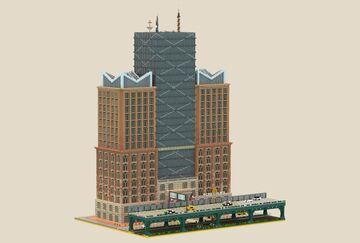 New York Style Skyscraper | MFC | +download Minecraft Map & Project