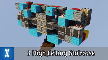 3 High Ceiling Staircase in Minecraft Java Minecraft Map & Project