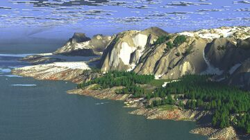 Distordes  - A realistic 4K Winter Glacier Terrain [4k, JAVA, BEDROCK] Minecraft Map & Project