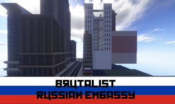 Brutalist Russian Embassy | Annetown | New Lapusia City Minecraft Map & Project