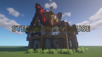 Steampunk Logging House Minecraft Map & Project