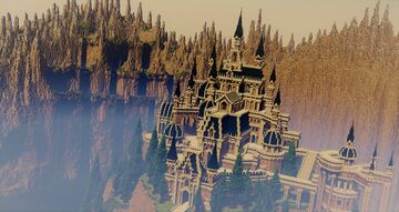 Castle beyond the canyon Minecraft Map & Project