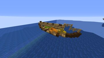 small Asian trade ship Minecraft Map & Project