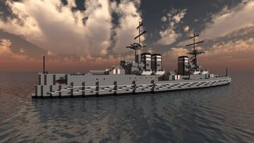 Fictional British Battlecruiser - HMS Indignant - For ConfuseACat Minecraft Map & Project