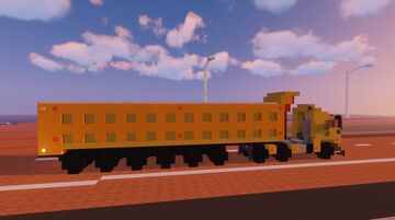 1.75:1 Scale Euro M.A.N Heavy Duty Truck and 6 Axles Tipper Trailer Minecraft Map & Project