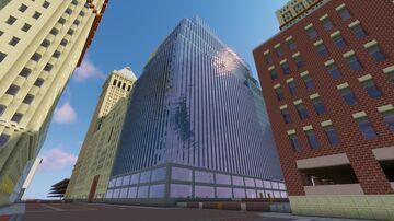 Mid-Century Skyscraper: Oakwood City (Facade) Minecraft Map & Project