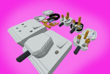 British Electronic plug and socket [Type G] Minecraft Map & Project