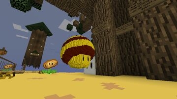 Super Mario Galaxy modded map : Bees and trees (1.14) Minecraft Map & Project