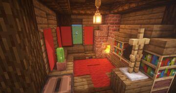 5x5 Living Room Design + Tutorial Minecraft Map & Project