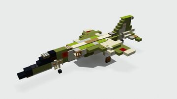 Mitsubishi F-1 (1.5-1 Scale) Minecraft Map & Project
