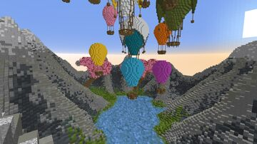 Hot Air Balloon Build Minecraft Map & Project