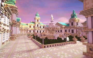 Baroque Hub 250x200 Minecraft Map & Project