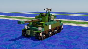 M4A2(76)w Sherman Minecraft Map & Project