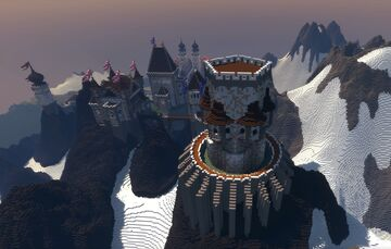 Huge Mountain Castle Minecraft Map & Project