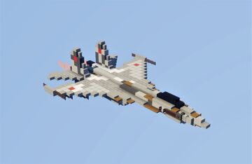 Su-35 Flanker-E Minecraft Map & Project