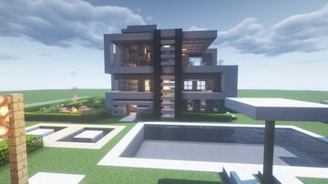 Outstanding Modern House Minecraft Map & Project