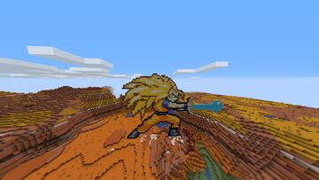 GOKU SSJ 3 (PIXEL ART MAP) Minecraft Map & Project
