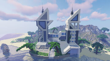 Large Futuristic City (WORLD DOWNLOAD) Minecraft Map & Project
