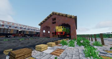 Fictional British trainyard Minecraft Map & Project