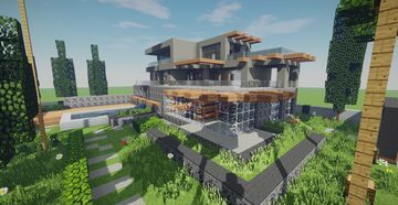 Modern House #50 Minecraft Map & Project