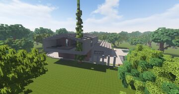 Modern Brick House Minecraft Map & Project