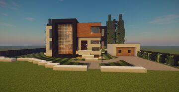Modern House #51 + Schematics Minecraft Map & Project