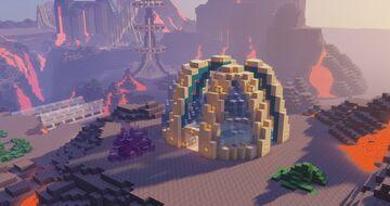 EPIC Small Futuristic Base - Modular Sci-Fi Build Minecraft Map & Project