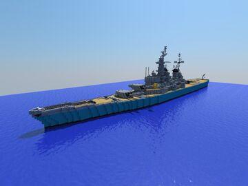 USS Missouri BB-63 (Korean War Refit) Minecraft Map & Project