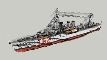 French Destroyer Sirocco 1:1 Minecraft Map & Project