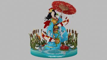 """Geisha Orian"" Organic Minecraft Map & Project"