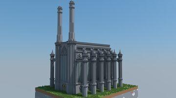 Industrial/ Gothic Crematorium Minecraft Map & Project